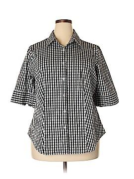 Jessica London 3/4 Sleeve Button-Down Shirt Size 20 (Plus)