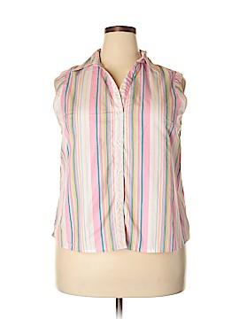 White Stag Sleeveless Button-Down Shirt Size XXL