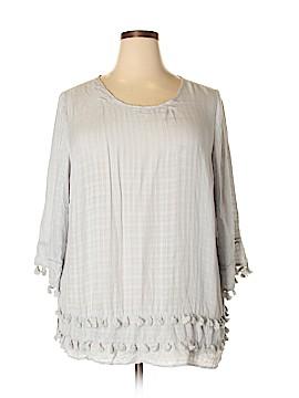 Hannah 3/4 Sleeve Blouse Size 2X (Plus)