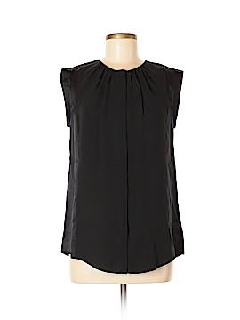 Halston Heritage Short Sleeve Silk Top Size M