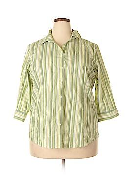 Cabela's 3/4 Sleeve Button-Down Shirt Size 2X (Plus)