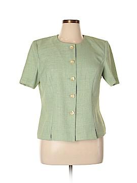 Leslie Fay Short Sleeve Blouse Size 16