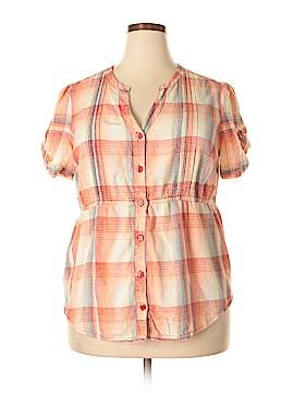 Great Northwest Short Sleeve Blouse Size 1X (Plus)
