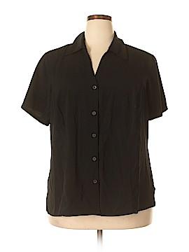 Elementz Short Sleeve Button-Down Shirt Size 3X (Plus)