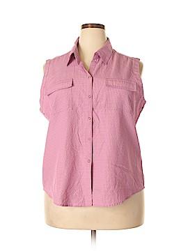 Apparenza Sleeveless Button-Down Shirt Size 2X (Plus)