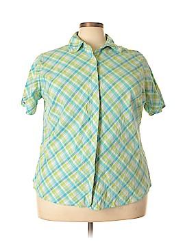 Fashion Bug Short Sleeve Button-Down Shirt Size 26/28 (Plus)