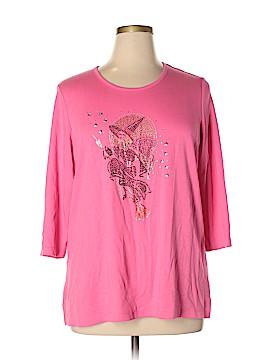 Quacker Factory 3/4 Sleeve T-Shirt Size XL