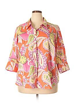 Lane Bryant Outlet Short Sleeve Button-Down Shirt Size 26 Plus (7) (Plus)