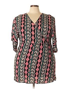 The ZigZag Stripe Casual Dress Size 2X (Plus)