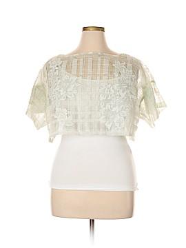 Tadashi Shoji Short Sleeve Blouse Size 16