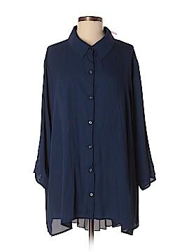 Xhilaration 3/4 Sleeve Button-Down Shirt Size 2