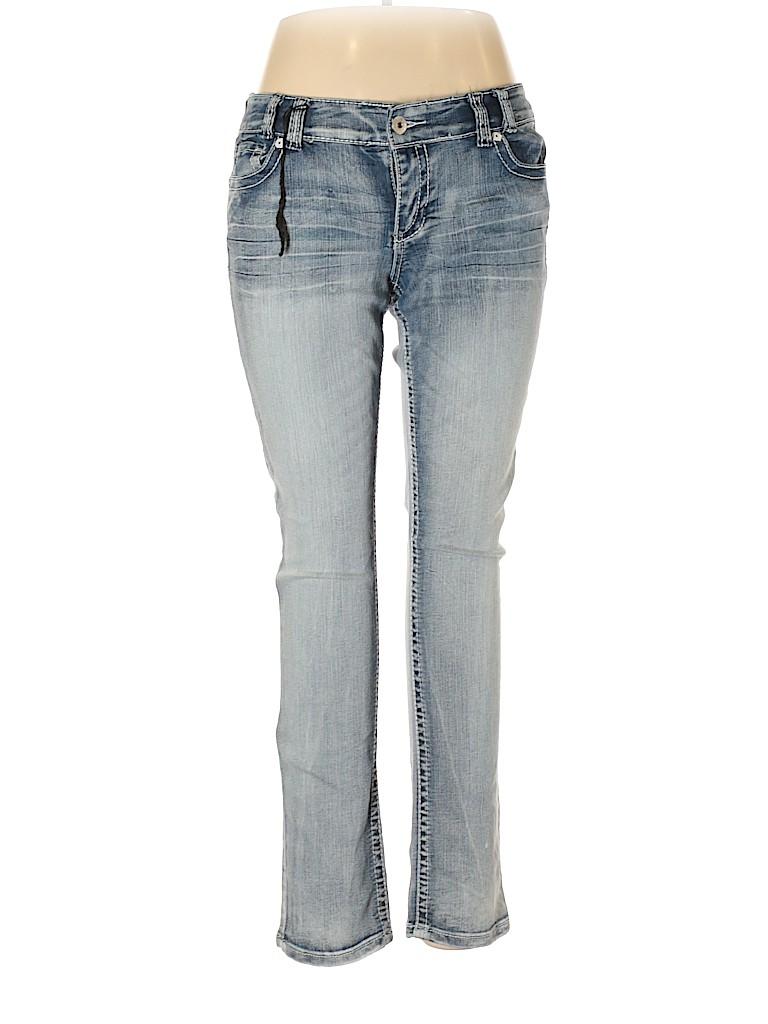 6b4a168772514 Ariya Jeans Solid Light Blue Jeans Size 13 14 - 60% off