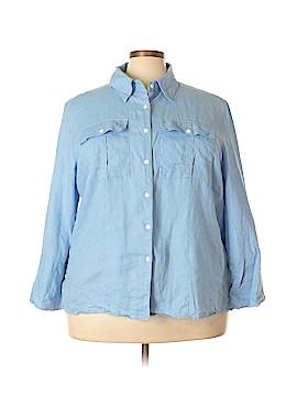 Allison Morgan Long Sleeve Button-Down Shirt Size 3X (Plus)