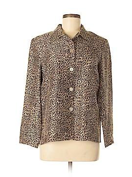 Silkland Long Sleeve Button-Down Shirt Size 8