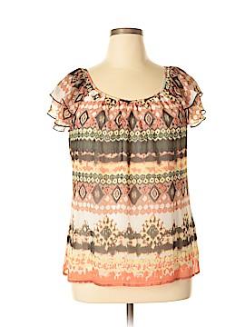 DressBarn Short Sleeve Blouse Size XL (Petite)