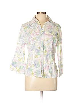 Antilia Femme Long Sleeve Button-Down Shirt Size L