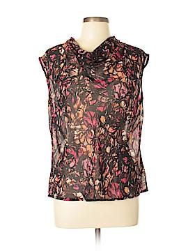 Nic + Zoe Short Sleeve Blouse Size L