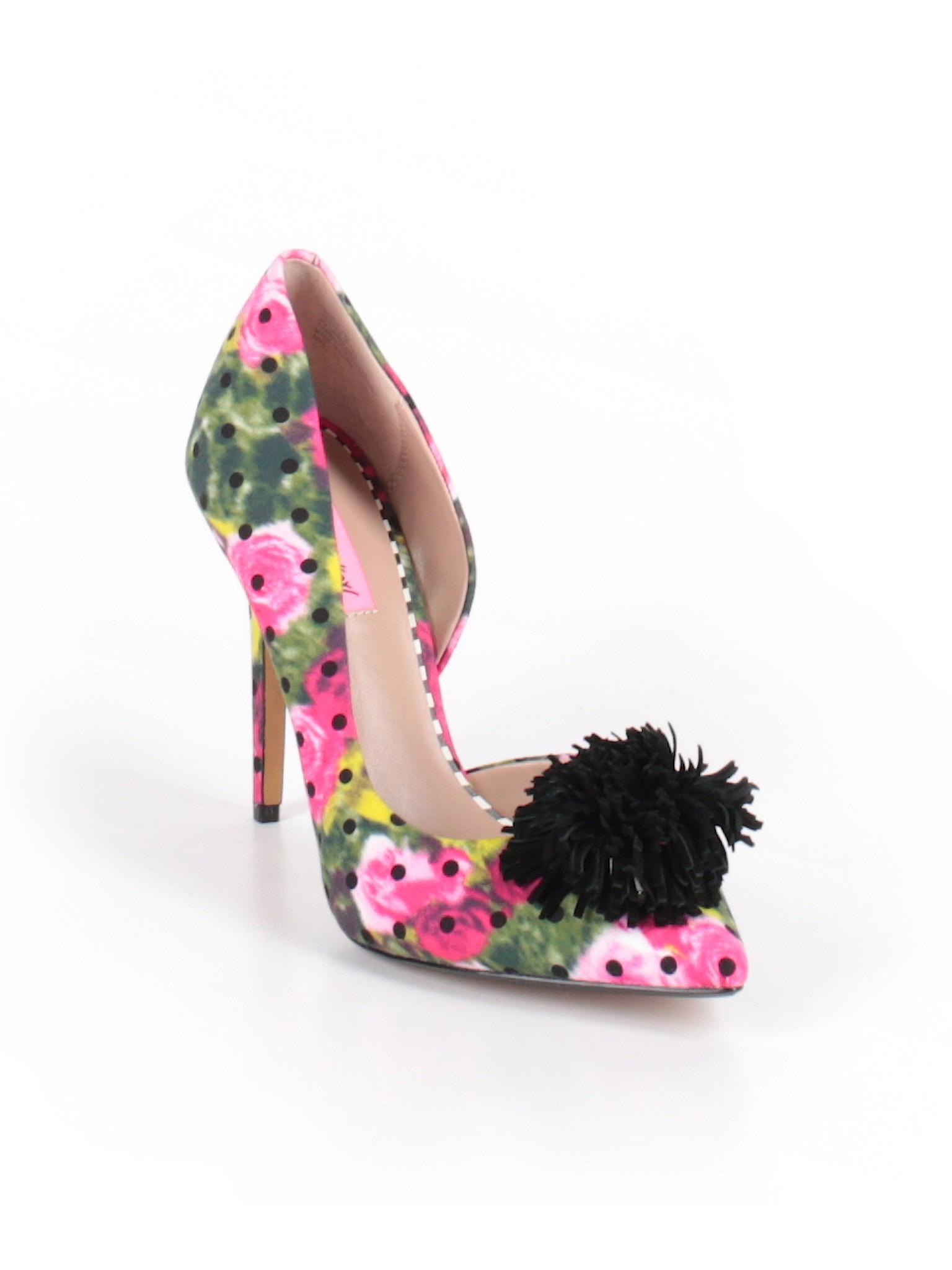 Betsey Johnson Floral Pink Heels Size 10 75 Off Thredup