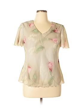 R&M Richards Short Sleeve Blouse Size 16