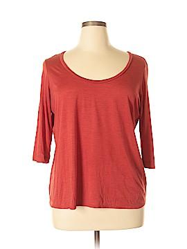 Eileen Fisher 3/4 Sleeve Silk Top Size XL