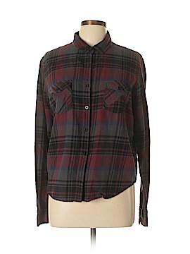 Volcom Long Sleeve Button-Down Shirt Size L
