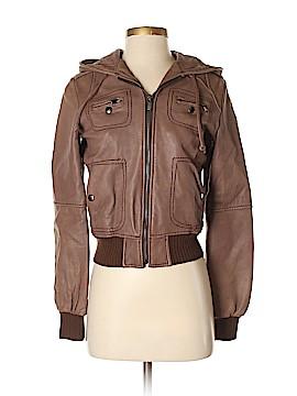 MICHAEL Michael Kors Leather Jacket Size S