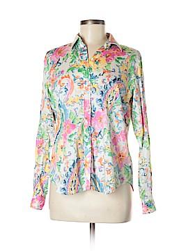 Lauren by Ralph Lauren Long Sleeve Button-Down Shirt Size 8 (Petite)
