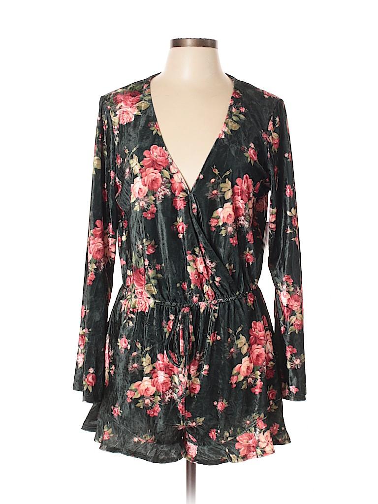 c0130d79d44 Bebop Floral Dark Green Romper Size XL - 27% off