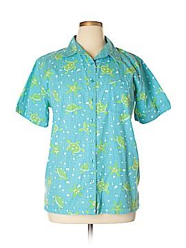 Bobbie Brooks Short Sleeve Button-Down Shirt Size 14