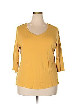Jones New York Signature 3/4 Sleeve T-Shirt Size 2X (Plus)