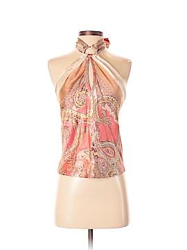 Roberto Cavalli Sleeveless Silk Top Size S