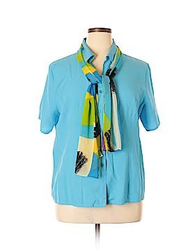 Joanna Short Sleeve Button-Down Shirt Size 2X (Plus)