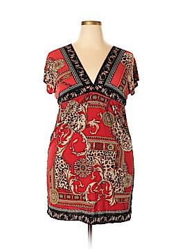 Snap Casual Dress Size 1X (Plus)