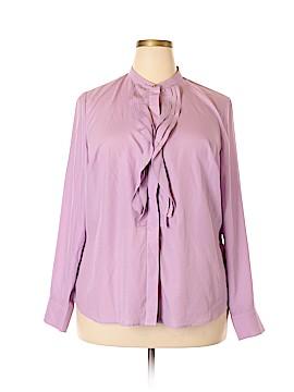 ELOQUII Long Sleeve Button-Down Shirt Size 18 (Plus)