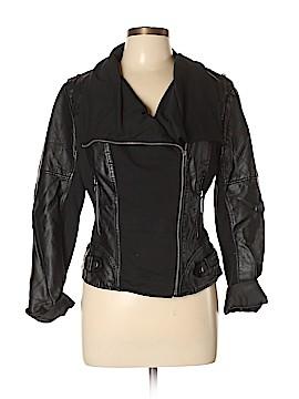 Blanc Noir Faux Leather Jacket Size L
