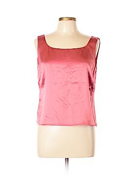 Lafayette 148 New York Sleeveless Silk Top Size 12