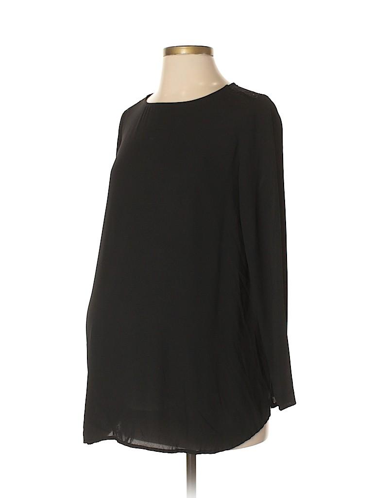 Noir Maternity Women Long Sleeve Blouse Size S (Maternity)