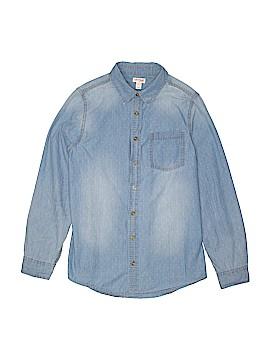 Cat & Jack Long Sleeve Button-Down Shirt Size 10 - 12