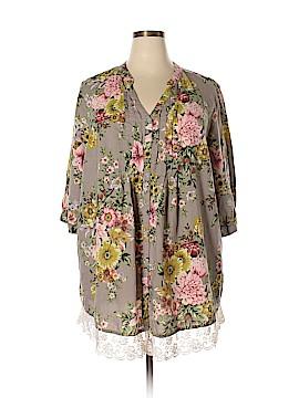 Denim 24/7 Short Sleeve Blouse Size 26 (Plus)