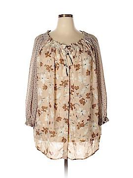 Suzanne Betro Long Sleeve Blouse Size 2X (Plus)