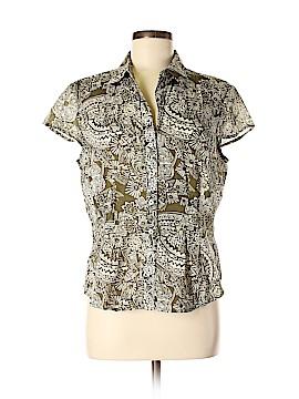 Jones New York Sport Short Sleeve Button-Down Shirt Size L