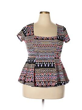 Lyss Loo Short Sleeve Top Size 1X (Plus)