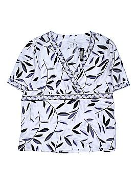Mandarin Blue Short Sleeve Blouse Size 3X (Plus)