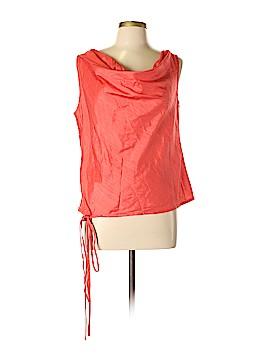 Silk Box Sleeveless Silk Top Size 10