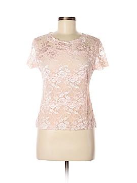 Josie Natori Short Sleeve Blouse Size M
