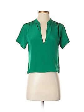 Amanda Uprichard Short Sleeve Silk Top Size XS