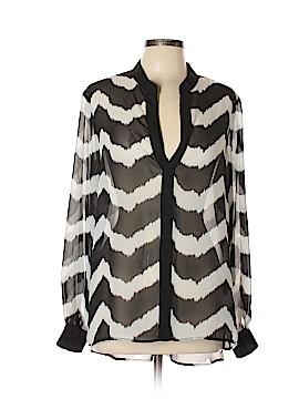 Black Saks Fifth Avenue Long Sleeve Blouse Size XL