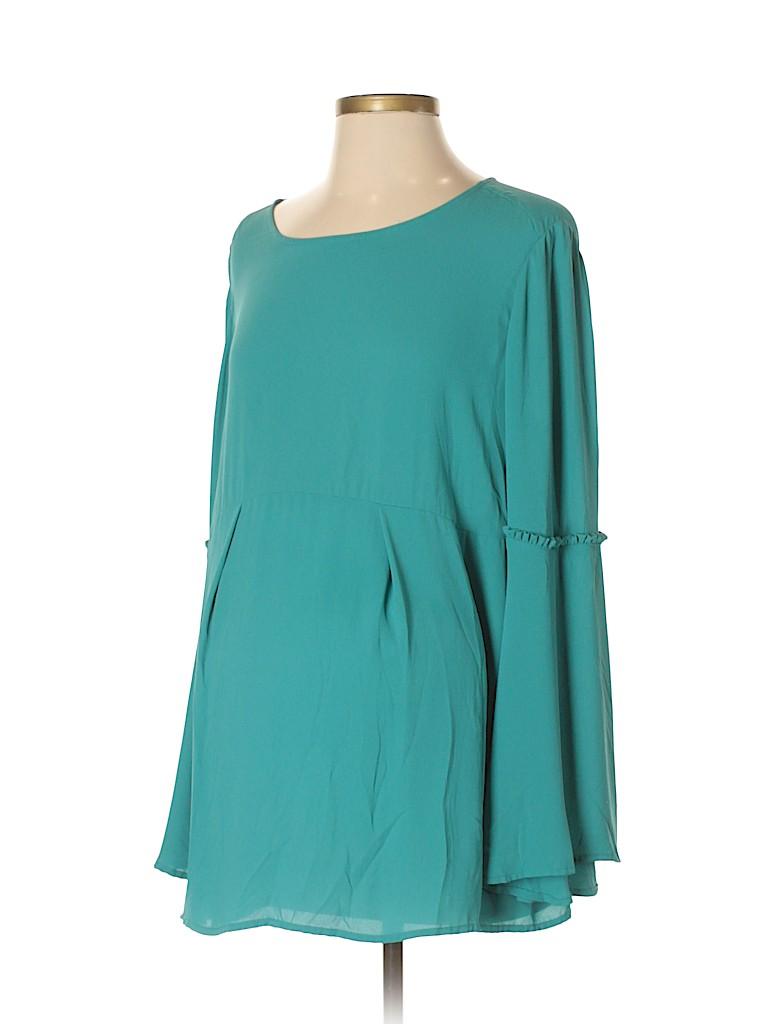 OCTAVIA Maternity Women Long Sleeve Blouse Size L (Maternity)