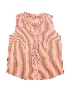 Laura Scott Sleeveless Button-Down Shirt Size XL