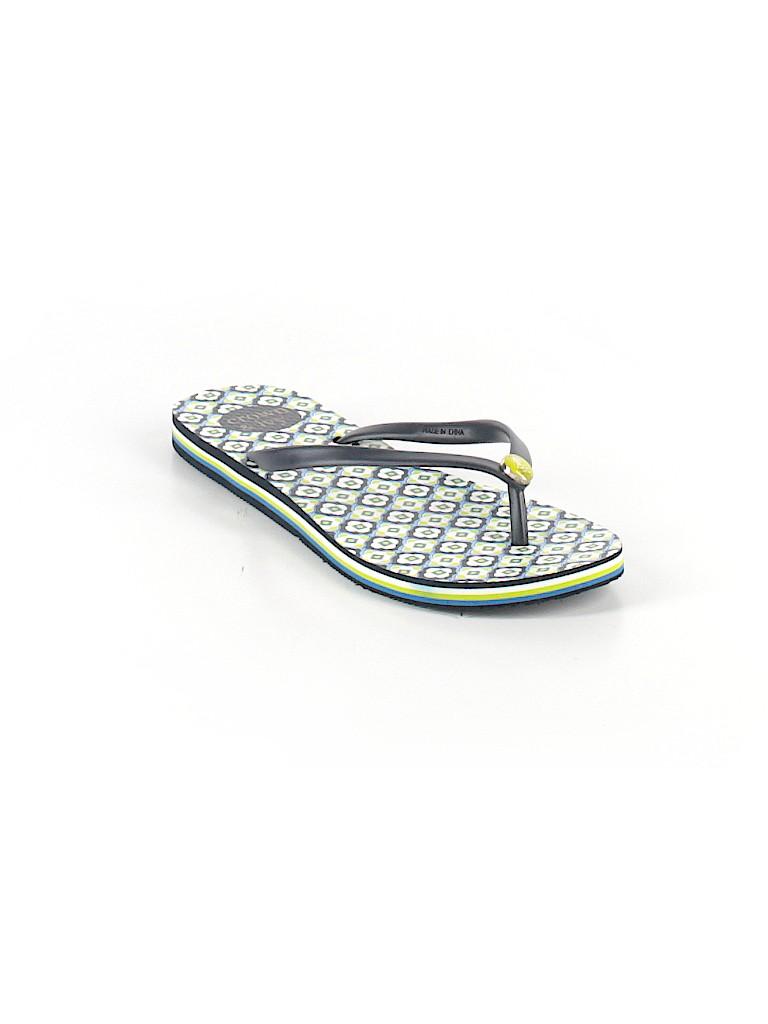7726e76f0fce Crown   Ivy Print Navy Blue Flip Flops Size 9 - 50% off